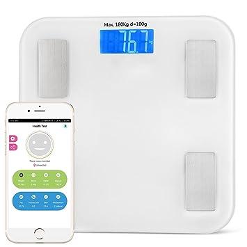 Smart Balanzas personales Buscador de cuerpo digital Escala de peso Bluetooth APP Incluye medición de peso