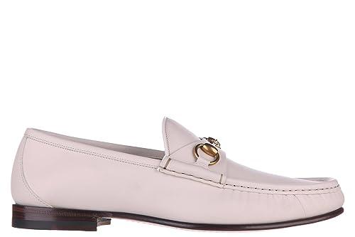 Gucci Mocasines en Piel Hombres Betis Blanco EU 40.5 307929 BLM00 9022: Amazon.es: Zapatos y complementos