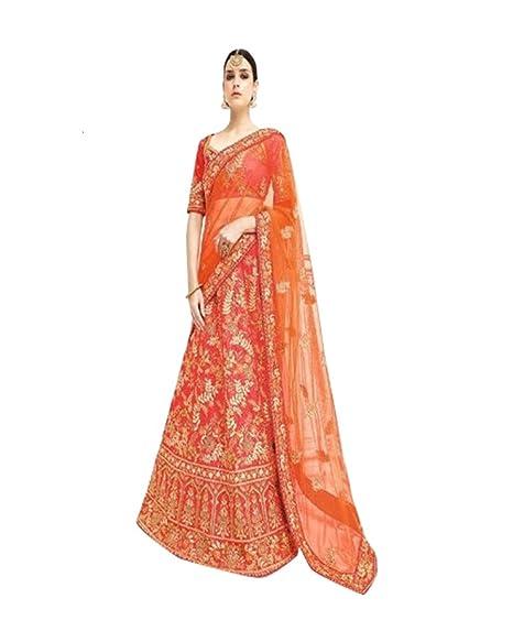 Amazon.com: Bridal Lehenga Choli dupatta bollywood viernes ...