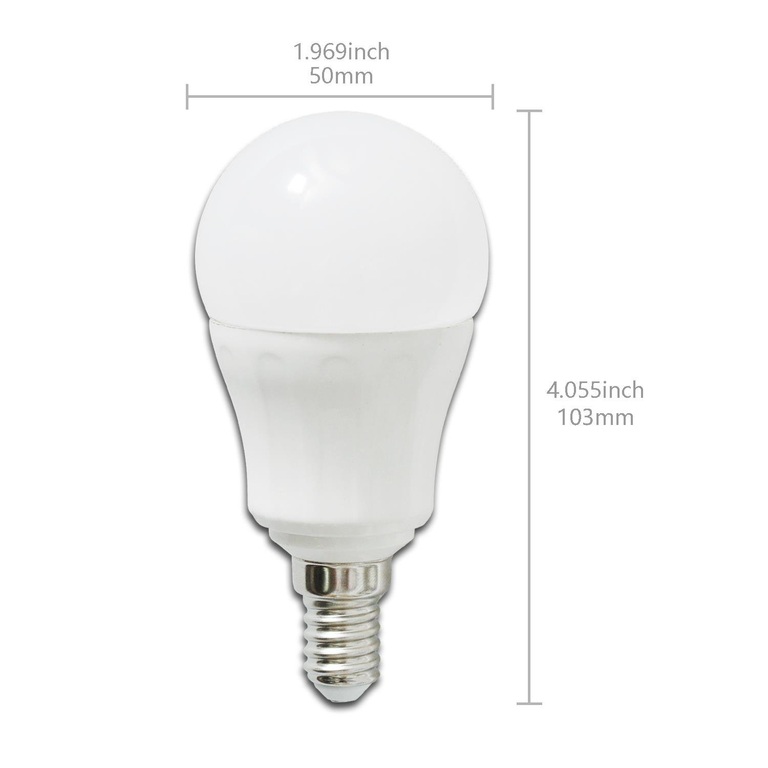 Aigostar - Bombilla LED A5 P45, E14, 7 W equivalente a 50 W, 3000K, 490 lúmenes, no regulable -Pack de 5: Amazon.es: Hogar