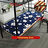 Removable Collapsible Thicken Economics Mattress,Mat Tatami mats For Student [individual] [dorm room] Bunk beds Bedroom-E 100x190cm(39x75inch)