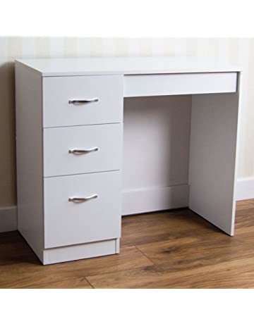 Home Discount White 3 Drawer Dressing Table Makeup Desk Riano Bedroom  Furniture 4e6e5d1435