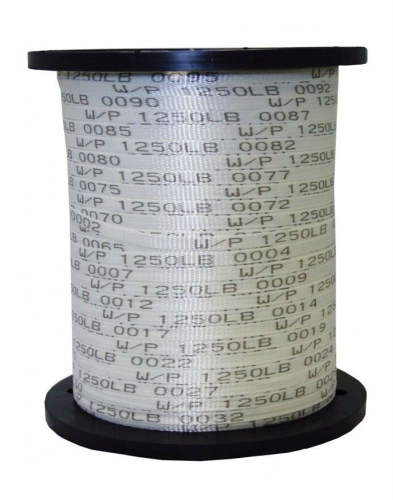USA Made 1/2'' x 5000' 1250 Lb Polyester Mule Tape / Pull Tape
