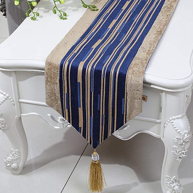 7 Colori JIANFEI Runner Elegante Rettangolare Panno di Copertura Cotone Colore : A, Dimensioni : 30 * 130cm 8 Taglie Disponibili