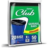 SANITA CLUB GARBAGE BAGS BIODEGRADABLE ,50 GALLONS LARGE 20 BAGS