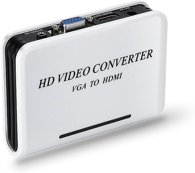 CONVERSOR DE SEÑAL VGA A HDMI ALTA DEFINICION CONVERTIDOR 1080P con audio entrada: Amazon.es: Electrónica