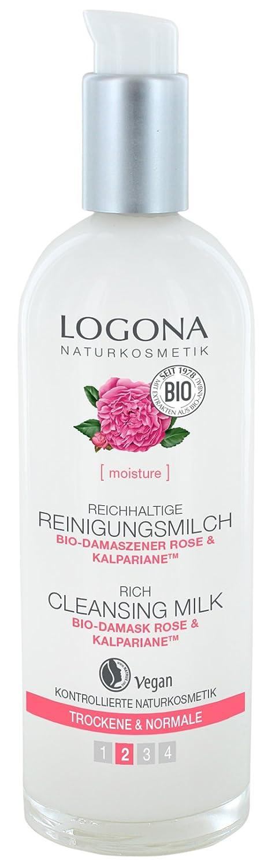 logona Natural cosmético Reich haltige Leche limpiadora, limpia porentief & es especialmente suavemente, la piel Vegano), 125ml LOGONA Naturkosmetik 02603