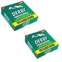 Derby Professional Single Edge Razor 100 Blades - Pack of 2