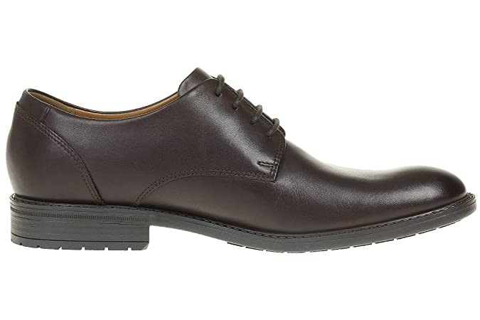 Clarks Truxton Plain Leather Men'S Business Shoes Dark Brown, Tamaño de Zapato:EUR 43