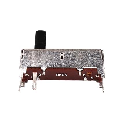 Homyl Potenciómetro Reemplazo B50K OHM para Guitarras Eléctricas Volumen Control 36x34x8mm