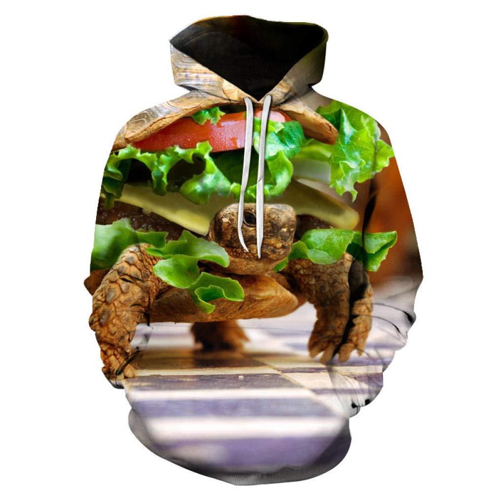 BMMDD Casual Sudadera con Capucha de Tortuga sándwich con ...