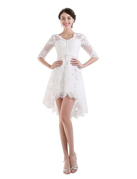 Vestidos de novia cortos amazon