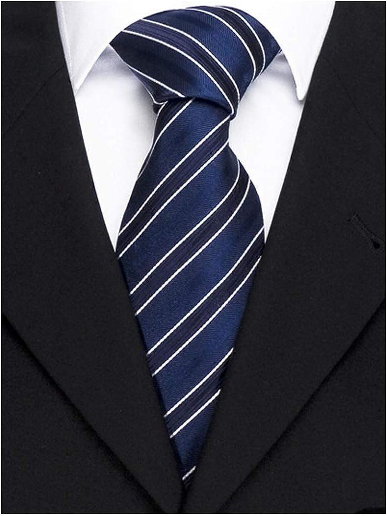 Ashford Herren Krawatte gestreift mittel-blau dunkel-blau f/ür das gehobene B/üroumfeld