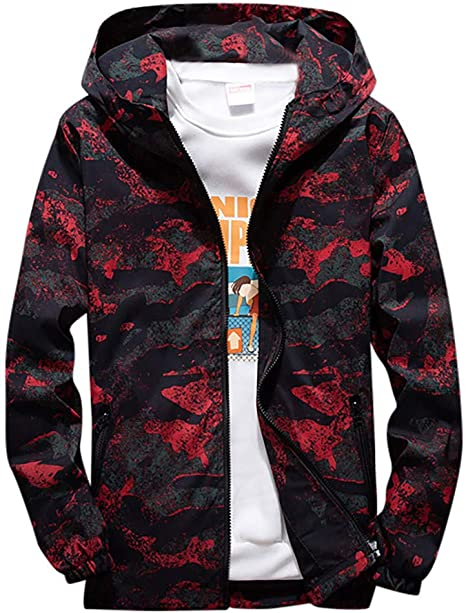 incroyable sélection boutique pour officiel section spéciale Camouflage à Capuche Manteau Capuche Homme Hiver Blouson ...