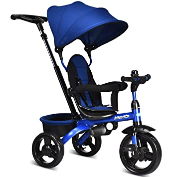 Amazon.com: INFANS Kids Tricycle, 4 en 1 carrito de paseo ...