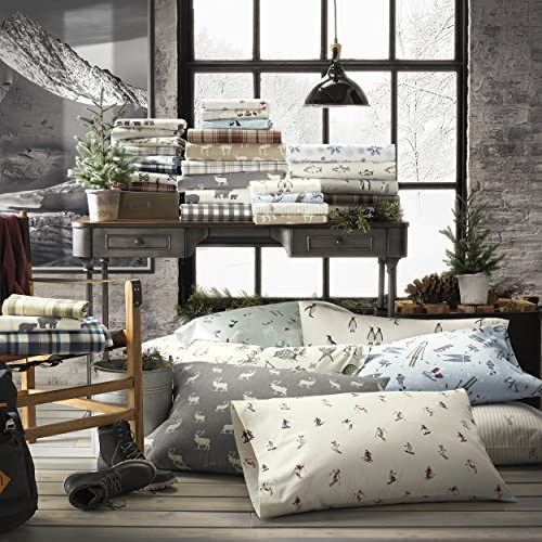 Amazon Com Eddie Bauer Flannel Collection 100 Premium Cotton Bedding Sheet Set Pre Shrunk Brushed For Extra Softness Comfort And Cozy Feel Full Montlake Plaid Home Kitchen