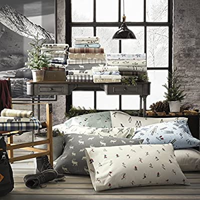 Eddie Bauer Buckhead Ridge Flannel Sheet Set, Queen - Includes flat sheet, fitted sheet and 2 pillowcases 100 percent cotton Brushed Cotton - sheet-sets, bedroom-sheets-comforters, bedroom - 61XgNQ7fyIL. SS400  -