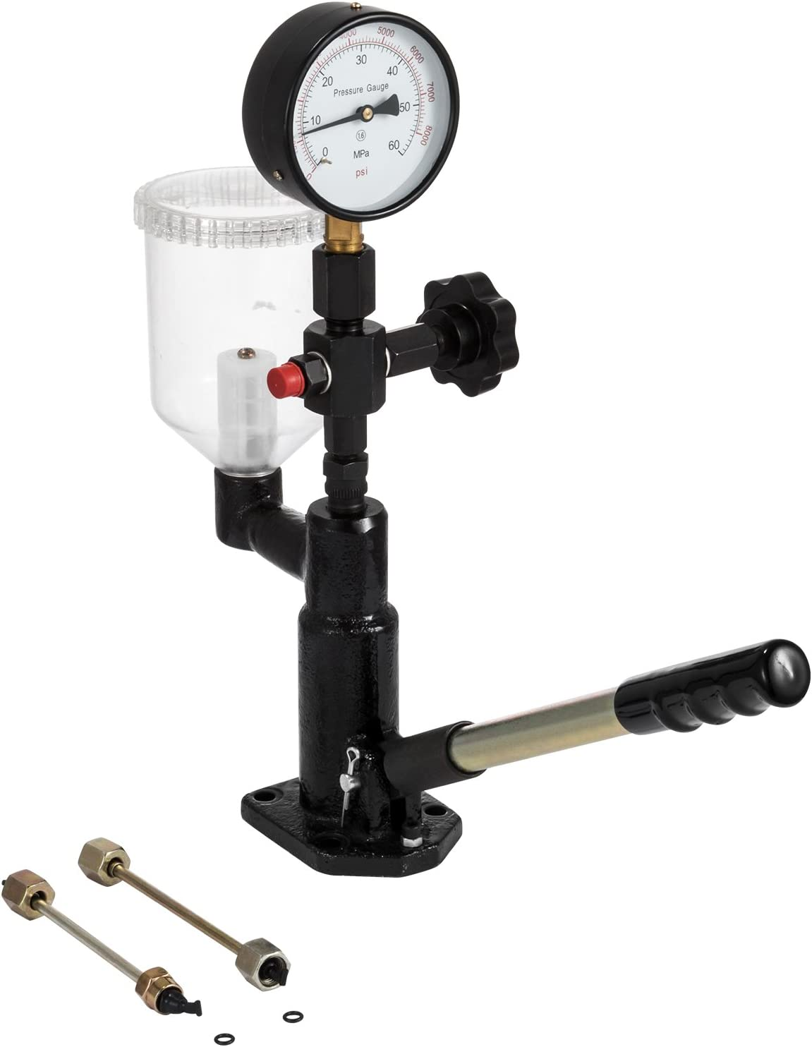 Dual Scale 600-8000 PSI BAR Diesel Injector Nozzle Tester Pop Pressure Tester