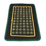 Baoblaze Natural Jade Stone Rectangle Breathable Cooling Summer Pillow Cover Chair Seat Massage Pad Mat for Home Office Car