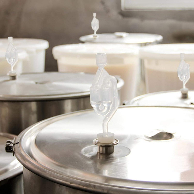 Brewing Fermentation Airlock Solid Silikon S-Type Bubble Airlock G/ärung Auslassventil f/ür Bier Wein Bier Brauen