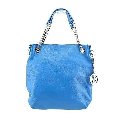a27f5226dced Amazon.com: Michael Kors Jet Set Medium Chain Shoulder Tote Summer Blue:  Shoes