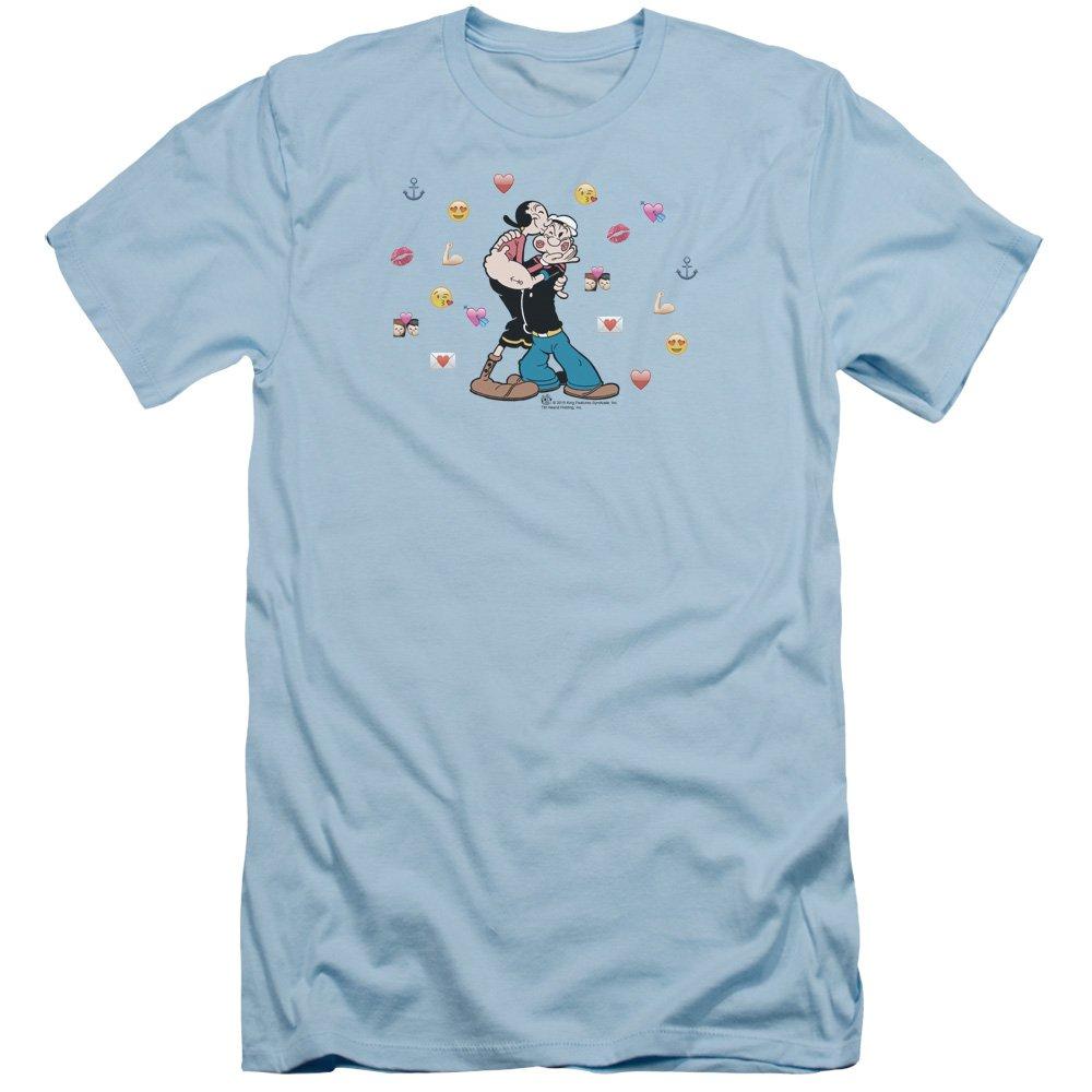 Popeye Love Icons S Shirt Light Blue