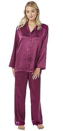 Nine X Black Plus Size Lingerie S-6XL Satin Pyjamas Long Sleeve Nightwear PJ/'S