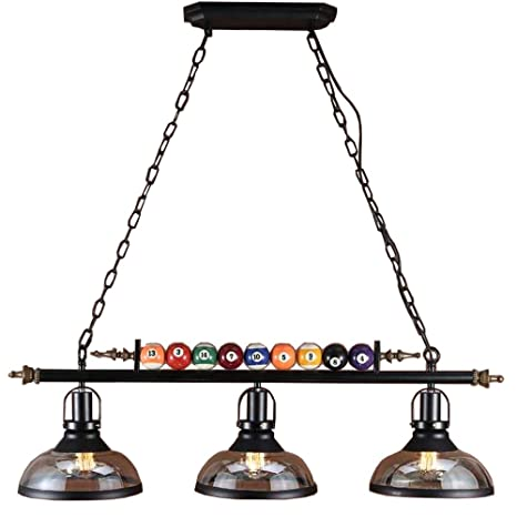 Gweat Billard Decor 3 Lumieres Lustre Pour Salle De Billard