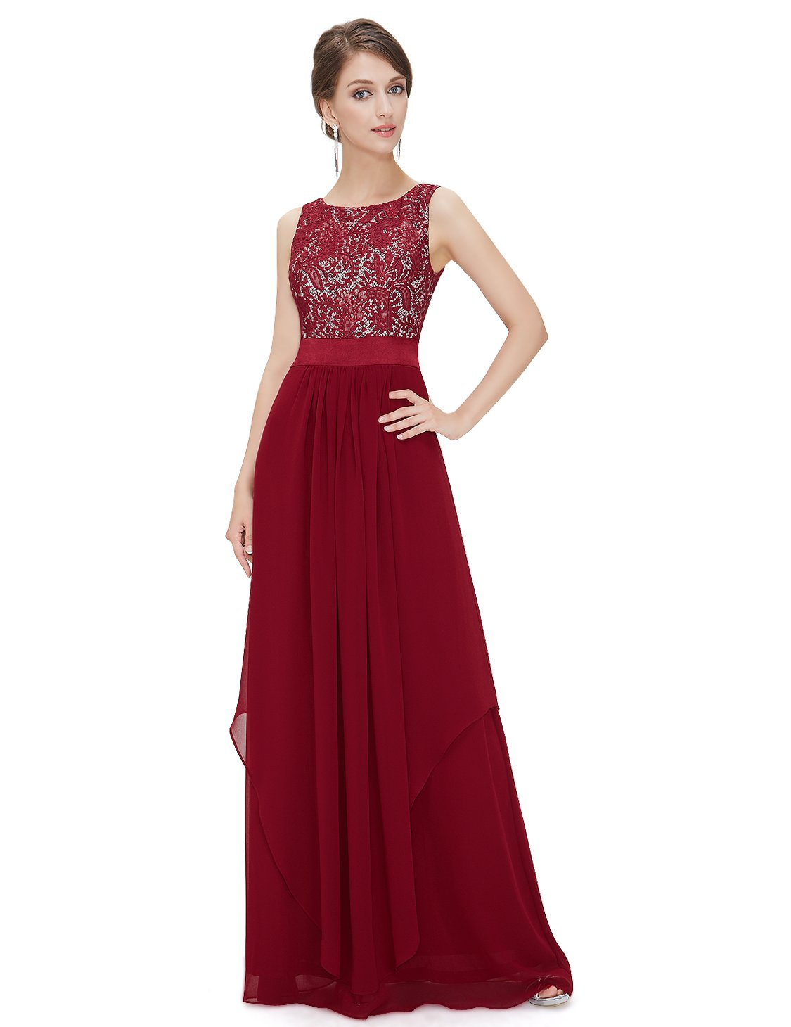 Ever-Pretty Womens Fall Wedding Guest Dresses 16 US Red