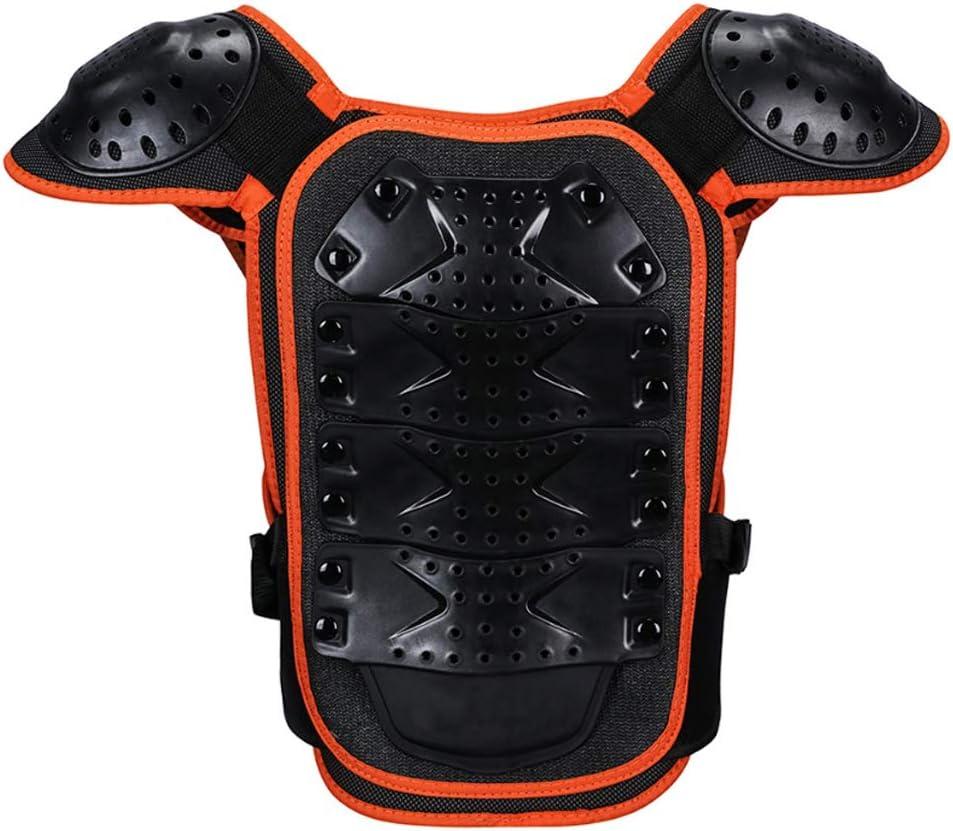 Le Soutien du Dos la Colonne vert/ébrale Les Gants de Protection pour la Moto la Moto Le Ski Armor Qtrees Gilet de Protection pour Enfant pour la Poitrine Le Snowboard