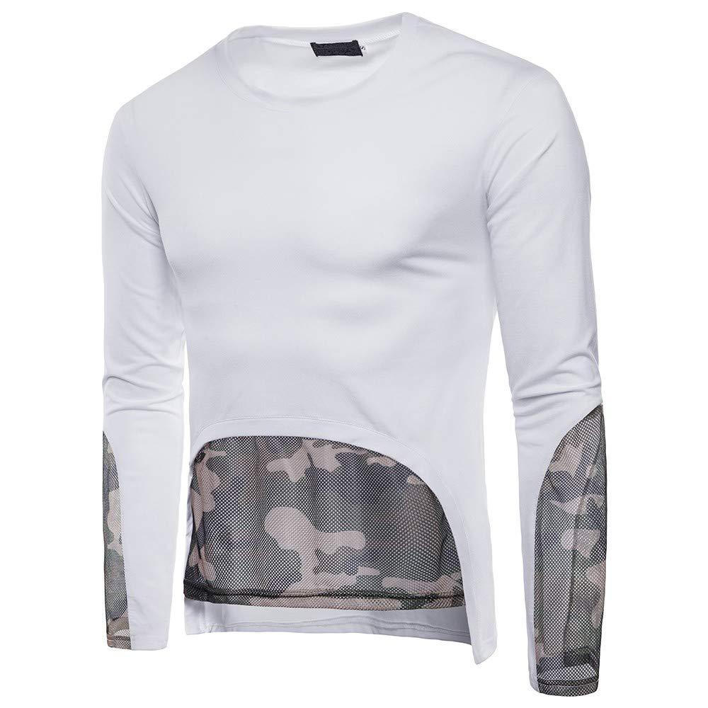 Camiseta de Manga Larga de Camuflaje Casual de Camuflaje para Hombre Camiseta de Manga Larga de plastilina de Internet: Amazon.es: Ropa y accesorios