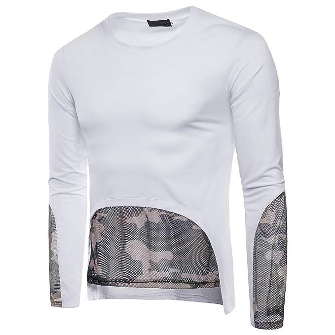 Naturazy Camiseta para Hombre con Capucha Longsleeve De Manga Corta Cuello Redondo De La Camiseta De