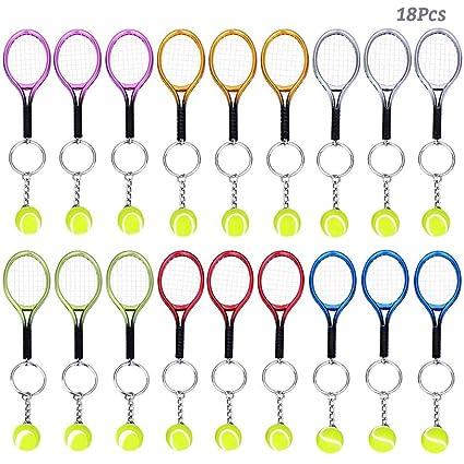 Amazon.com: AUHOKY - Llavero con raqueta de tenis, 18 piezas ...