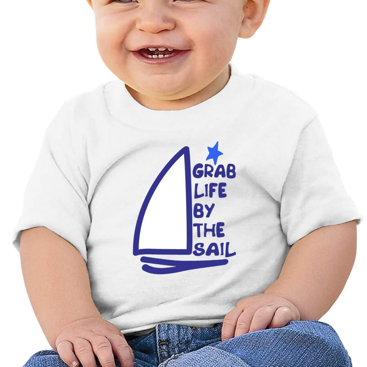 Qiop Nee Grab Life by The Sailing Short-Sleeve Shirts Baby Girls