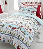 White Christmas, Festive King Size Bedding by CHRISTMAS BEDDING