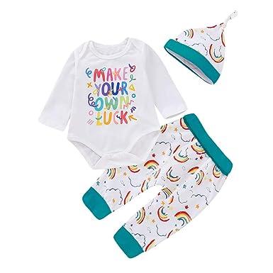 4ceb05ab3c08a BOBORA Ensemble de Vêtements 3PCs Bébé Filles Garçons Koala Imprime  Barboteuse Manches Longues + Pantalon Floral