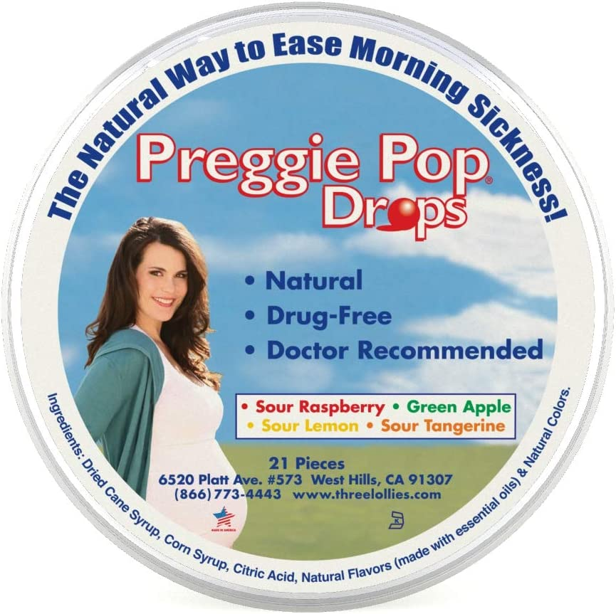 Three Lollies Preggie Drops Morning Sickness & Nausea Relief during pregnancy Safe...