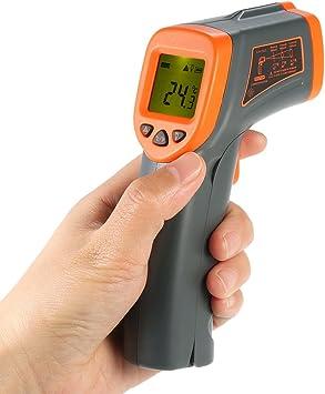 Kkmoon Infrarot Industriethermometer Berührungsloses Tragbares Laser Handthermometer Temperaturmesser Pyrometer Mit Hintergrundbeleuchtung Lcd Display Temperaturbereich 32 380 Nicht Für Menschen Baumarkt