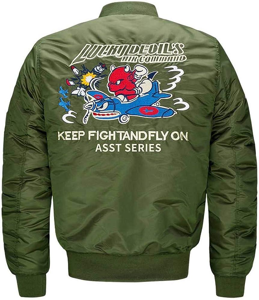 YKARITIANNA Men Street Hood Swag Spring Jackets Trench /& Rain Casual Long Sleeve Letter Print Flying Jacket Coat