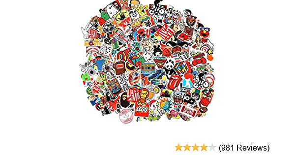 Amazon com: Cool Sticker 100pcs Random Music Film Vinyl