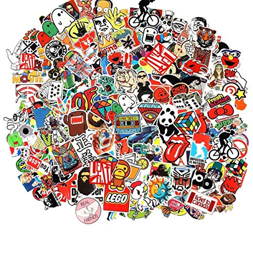 Cool Sticker 100pcs Random Music Film Vinyl Skateboard