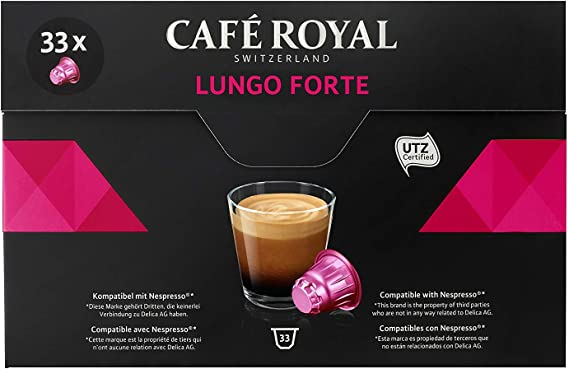 Café Royal Lungo Forte 33 Coffee Pods Compatible With Nespresso R System Intensity 810