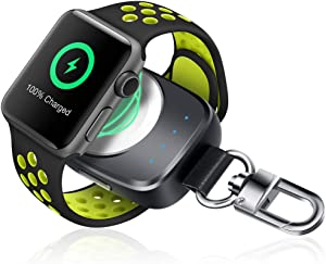 Wireless Phone Watch Charger [ MFi Certified], Portable iwatch Charger 700mAh Smart Keychain Power Bank, Compatible for Watch Series 6 5 4, 3, 2, 1 , for Nike 38/42mm Watch Charger for Travel