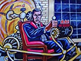THE TIME MACHINE ORIGINAL PAINTING man cave art-hg wells science fiction steampunk rod taylor fathers day