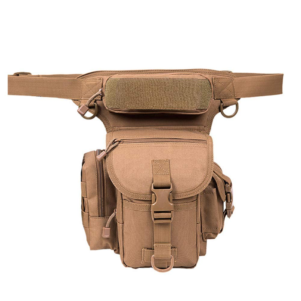 G One Size Backpack Outdoor MultiFunctional Pockets, Male Leg Bag, Riding Camouflage Hanging Riding Kit, Waterproof Leg Hanging Pockets