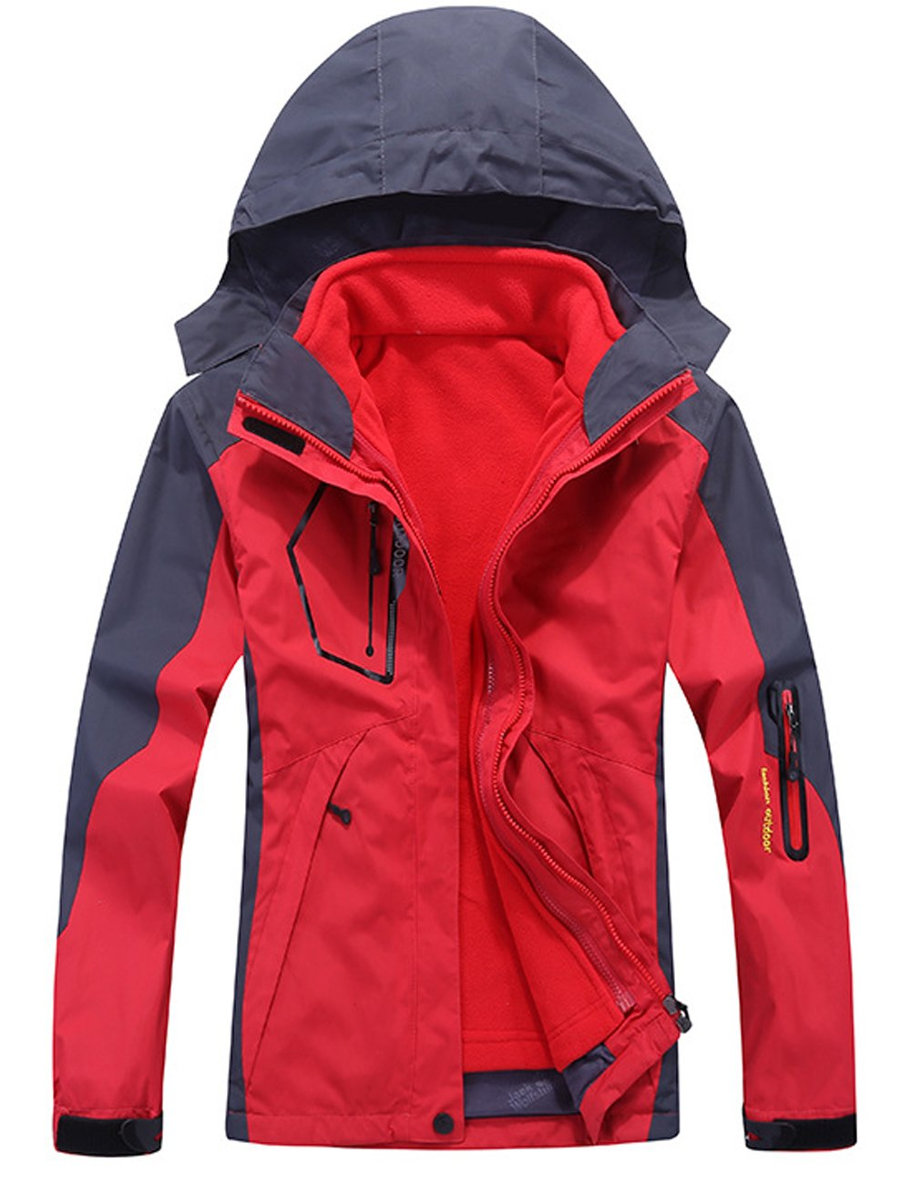 CUKKE OUTERWEAR レディース B0785FF3P4 S|Red Nv1201 Red Nv1201 S