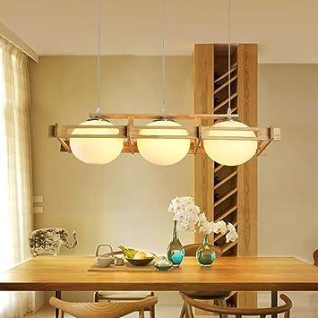 Lieblich JJH ENTER Holz Pendelleuchten Restaurant Kronleuchter Handgefertigte  Hängende Deckenleuchte Höhe Einstellbar LED Warm [Energieklasse