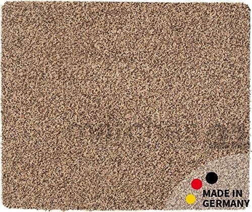 Fußmatte Teppich Läufer Baumwolle Uni farbig / einfarbig beige 90x150 cm rutschfest maschinenwaschbar