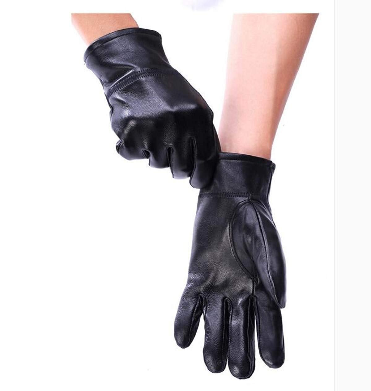 CWJ Gloves Ladies Ride Thicken Warm Autumn and Winter Men's Style,WomenBlack,Large by CWJ (Image #2)
