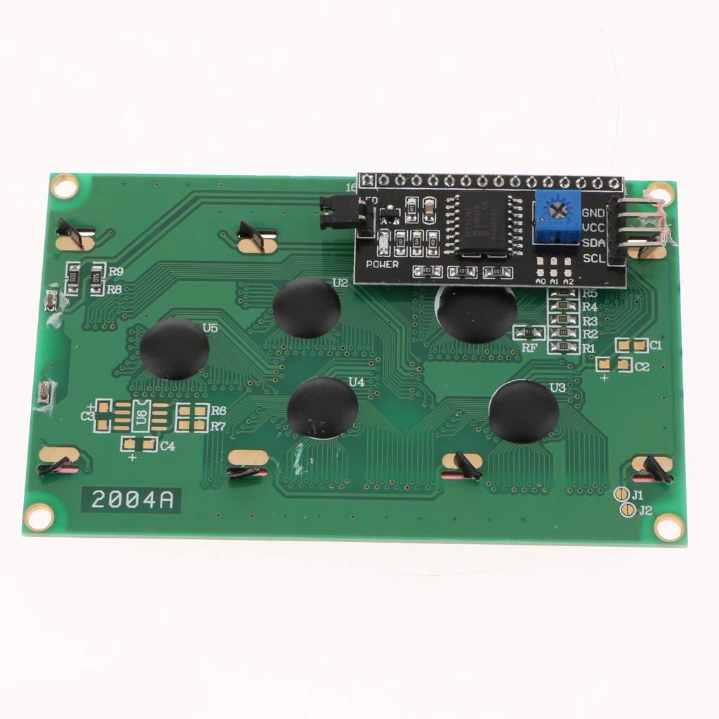 2004 20X4 LCD Display seriale con IIC I2C adattatore giallo verde LCD a colori per Arduino Raspberry Pi